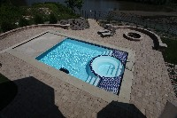 Caesars Palace Fiberglass Pool and Spa in Peterman, AL